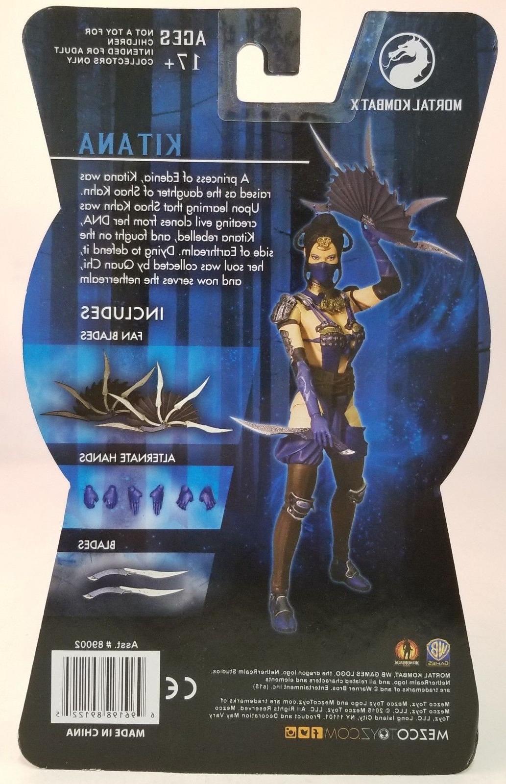 Lot of 2 Mortal Kombat Figures ~Kitana~Quan Chi~ PX Exclusive