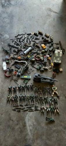 Lot of Military Army Soldiers Action Figures ammo,guns lots