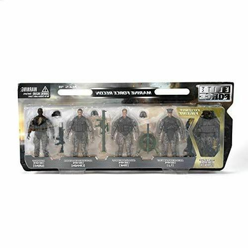 Elite Force Recon Action Figure 4 Figures bonus Sniper