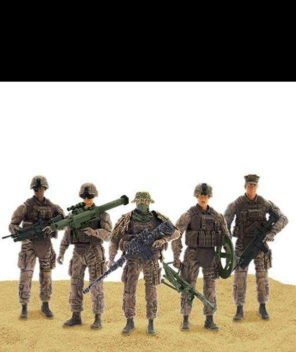 Elite Force Marine Action Figure 4 Figures Sniper