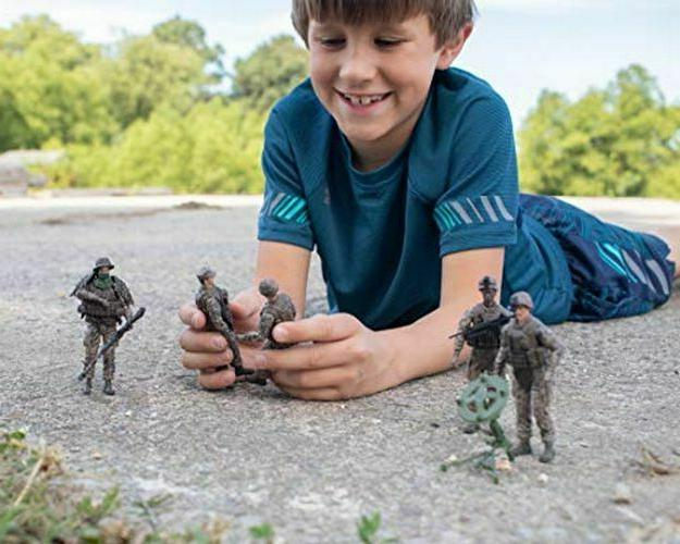 Elite Force Marine Action 4 Figures with Scout Sniper