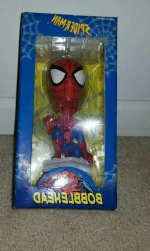 marvel 2002 toy site bobblehead spider man