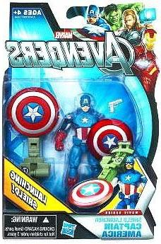 Marvel Avengers Movie 4 Inch Action Figure Shield Launcher C