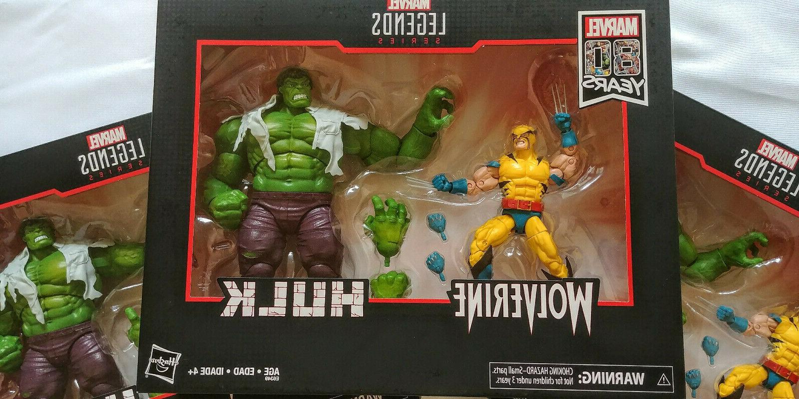 Marvel Hulk vs Wolverine Figures IN