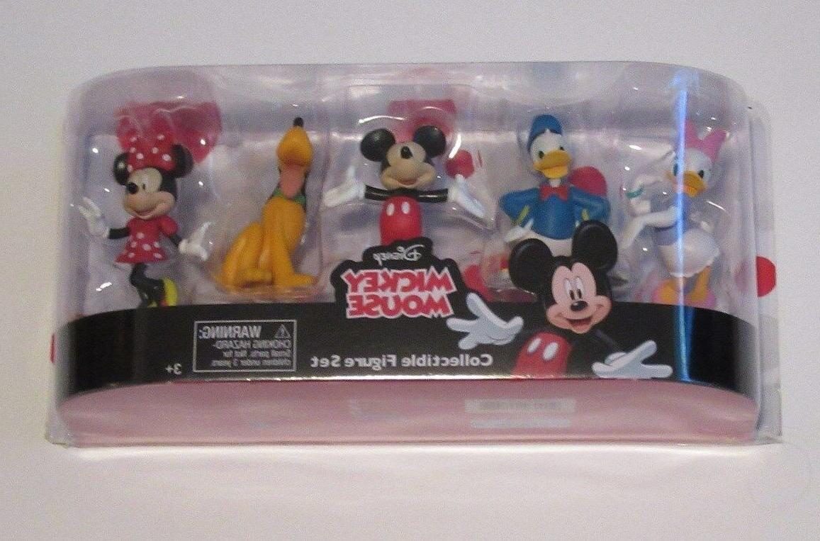 mickey mouse 5 piece collectible figure set
