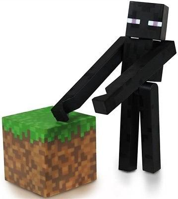 Minecraft Core Enderman Action Figure with Accessory, New
