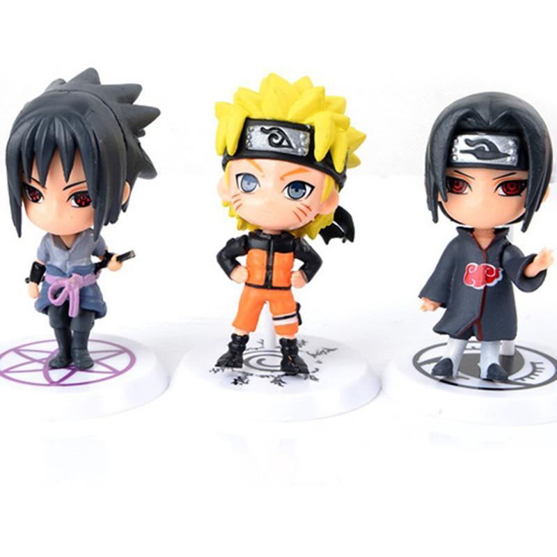 12 Styles Q Zabuza Naruto Sakura PVC Doll 1PCS/lot