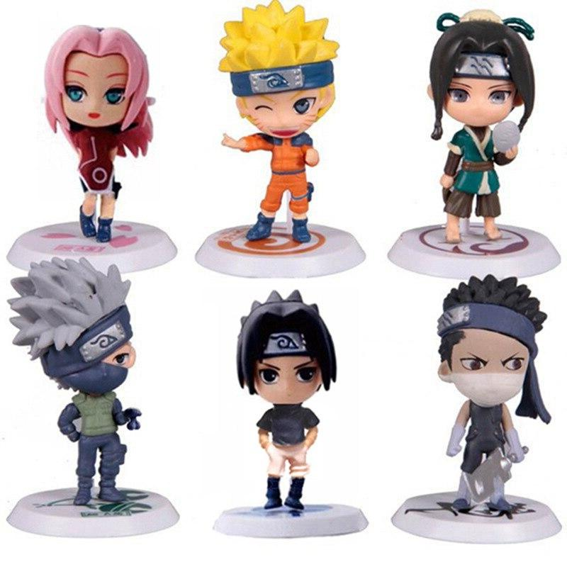 Naruto <font><b>Action</b></font> Zabuza Haku Sasuke Naruto Sakura PVC Doll Toy 1PCS/lot