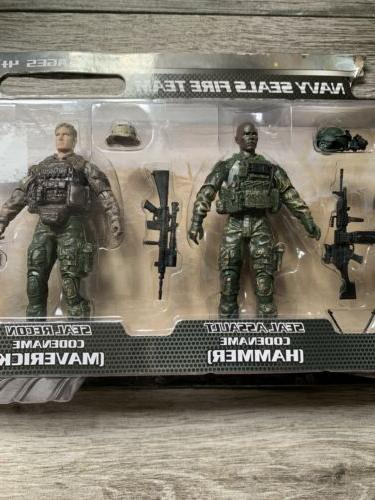 ELITE FORCE NAVY SEALS FIRE TEAM Action Figure Set Of 5 New In