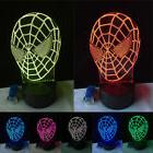 New 3D Movie Action Figure Spider Man USB Touch Night Light