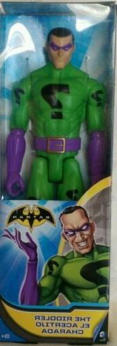 "NEW DC COMICS THE RIDDLER 12"" INCH ACTION FIGURE  MATTEL BAT"