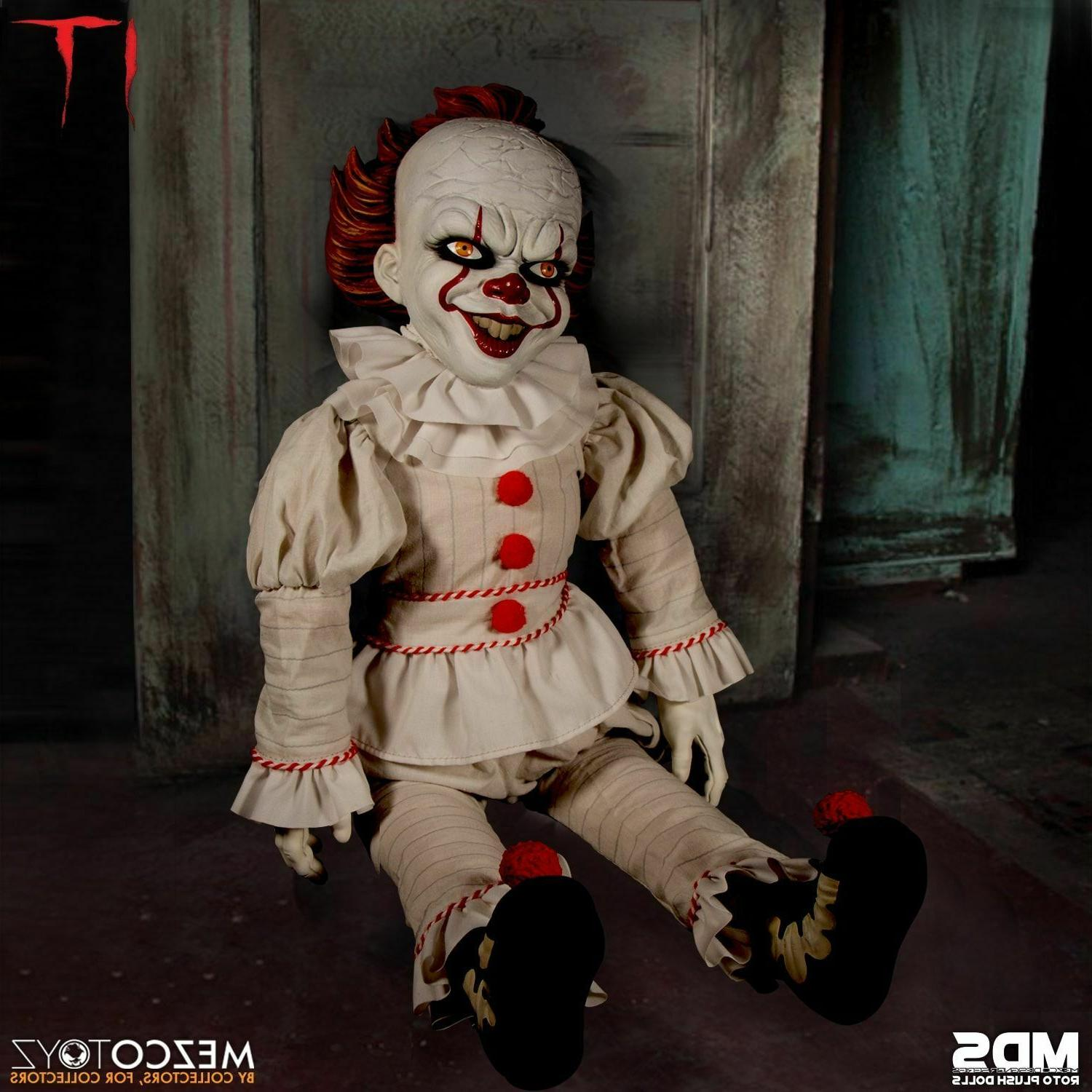"""NEW Series It Pennywise 18"""" Doll In Stock"""