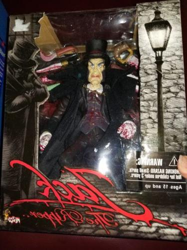 NIB JACK THE RIPPER ACTION FIGURE - MEZCO 2004 W/ ACCESSORIE