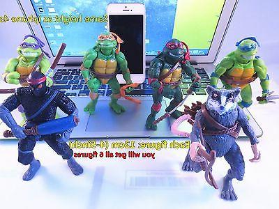 6pc 12cm Ninja Turtles Action Figures Collection Toy Set  US