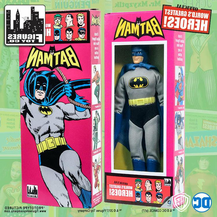 Official DC Comics Batman 8 inch Action Figure in Mego Style