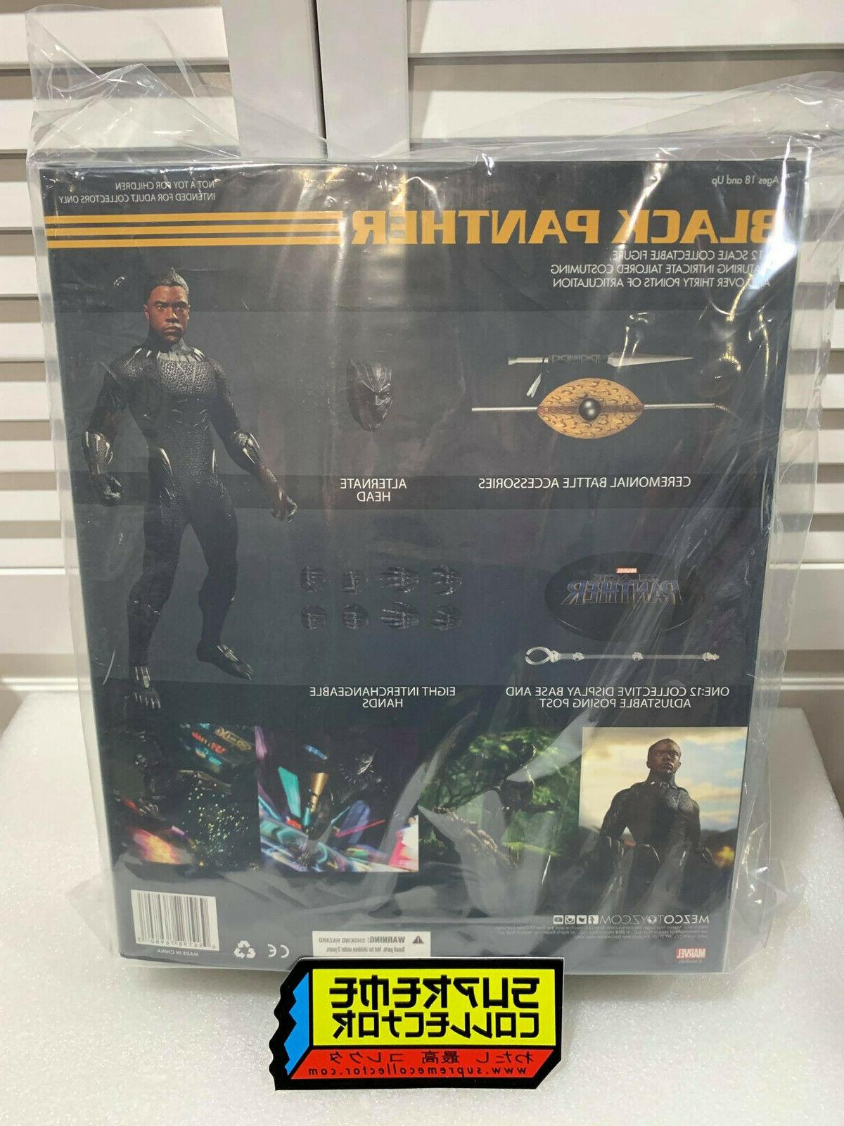 Mezco One:12 Black Panther Action Figure Stock! USA