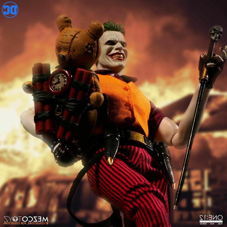 "Mezco One DC Joker Clown of Crime 1/12 6"" Figure Stock"