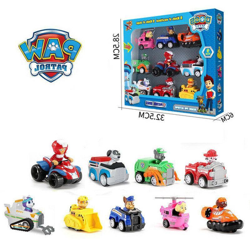 Paw Patrol Action Model Racer Vehicles Kids Mini Toys