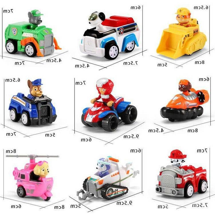 Paw Patrol Model 9 Racer Vehicles Set Gift Mini Toys