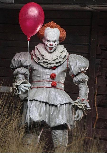 Pennywise-034-IT-2017-034-Movie-Clown-Neca-Action-Figure +BOX