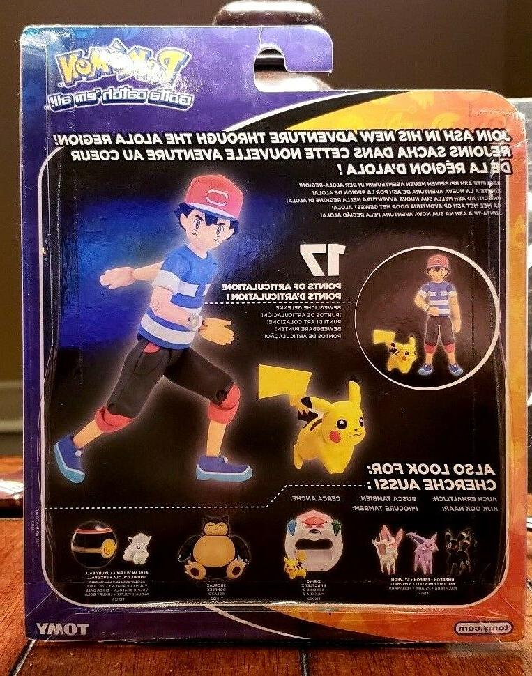 POKEMON ASH TOMY ACTION TOYS ARTICULATION