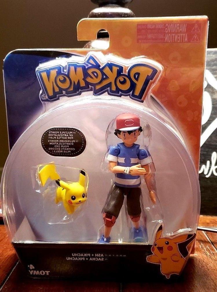 pokemon ash pikachu action figure toys articulation