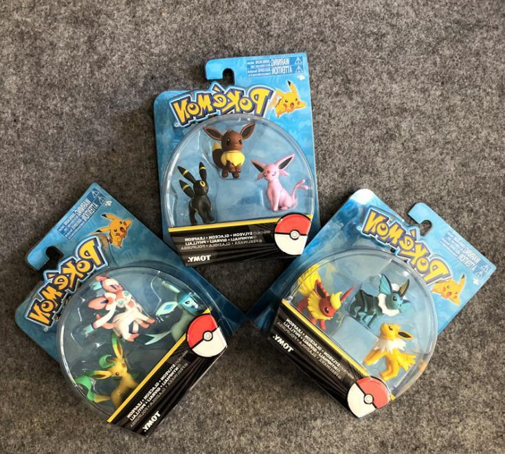 pokemon go eevee evolution family action figure