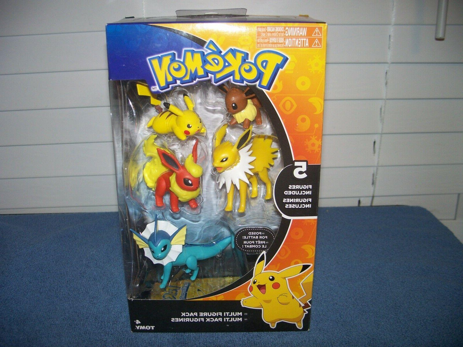 pokemon multi 5 pack vaporeon jolteon flareon