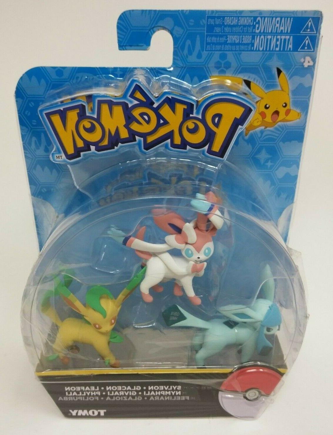 Pokemon Sylveon Glaceon Leafeon Action Figure 3-Pack - 2016
