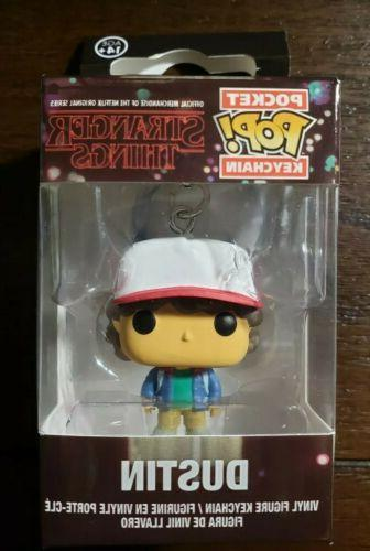 pop keychain stranger things dustin action figure