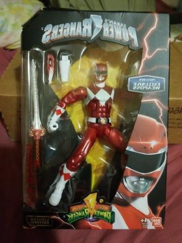 Power Rangers Legacy ~ METALLIC RED RANGER ACTION FIGURE ~ B