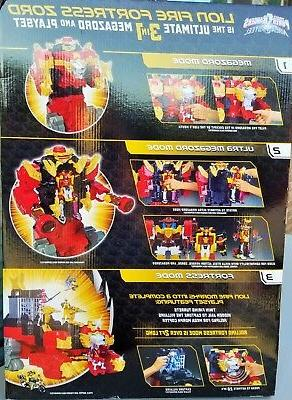 Power Rangers Steel Lion Fire Fortress 20 inch Playset