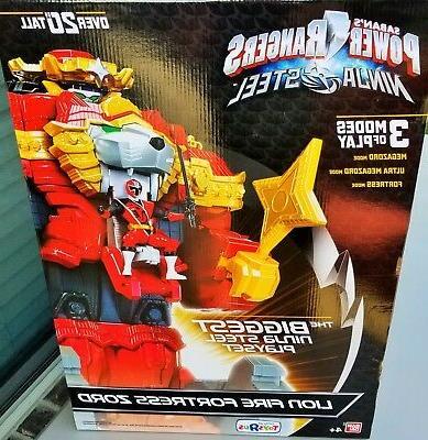 power rangers ninja steel lion fire fortress