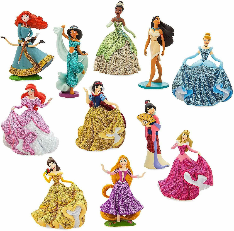 princess deluxe 11 piece figure play set
