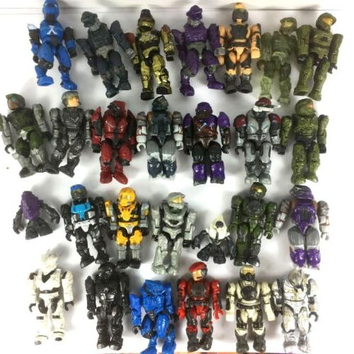 random 10pcs halo party building toys action