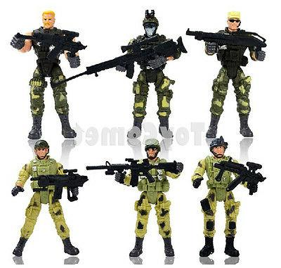 Set of 6 Special Forces Elite Heroes Toy Soldier Action Figu