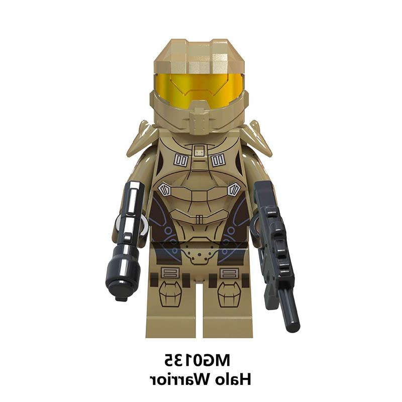 Single Sale Star Wars <font><b>Halo</b></font> <font><b>Action</b></font> Weapon Building Blocks Toys FOR