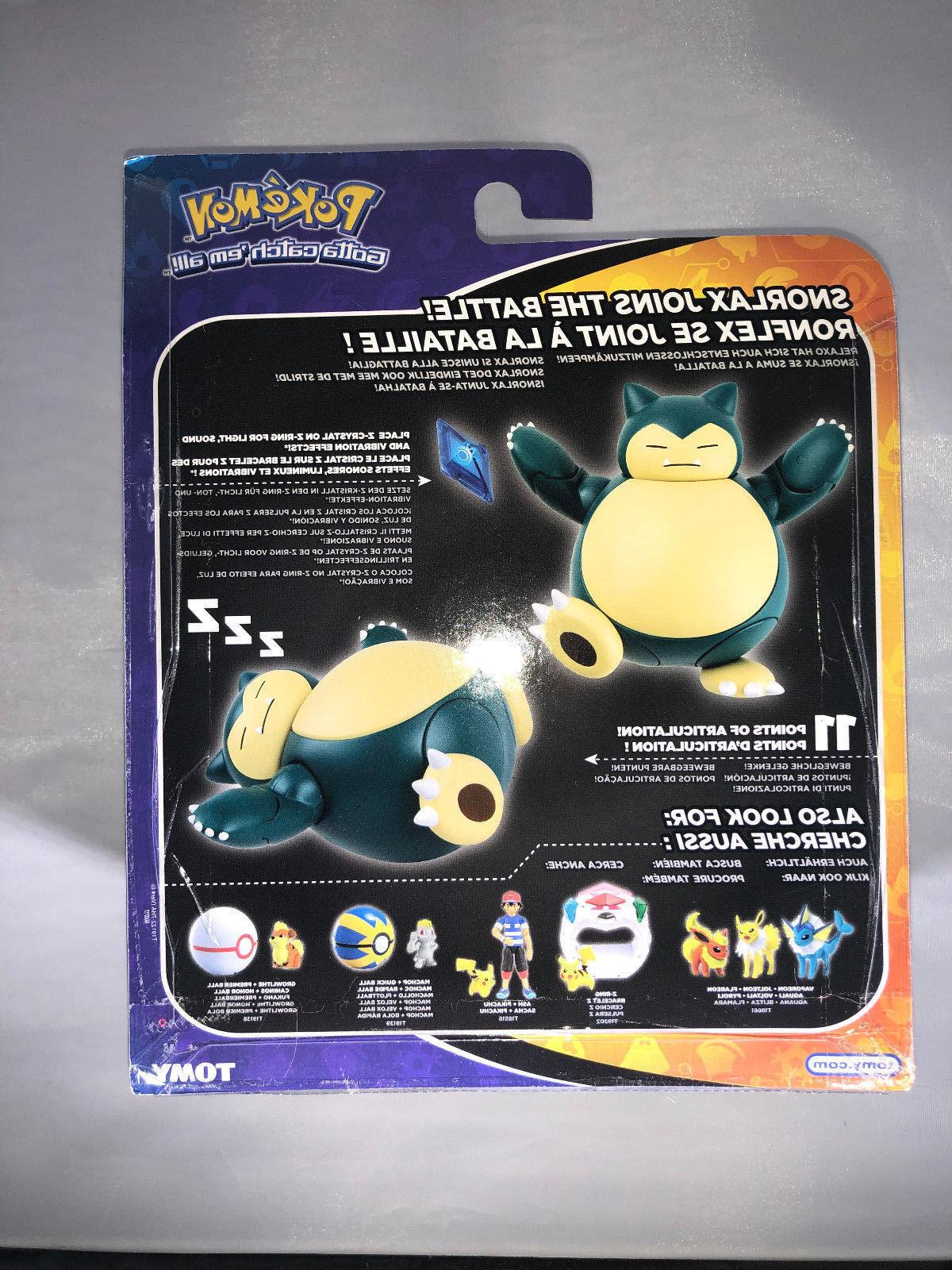 SNORLAX TOMY Hyper Action Figure CASE BELLY!