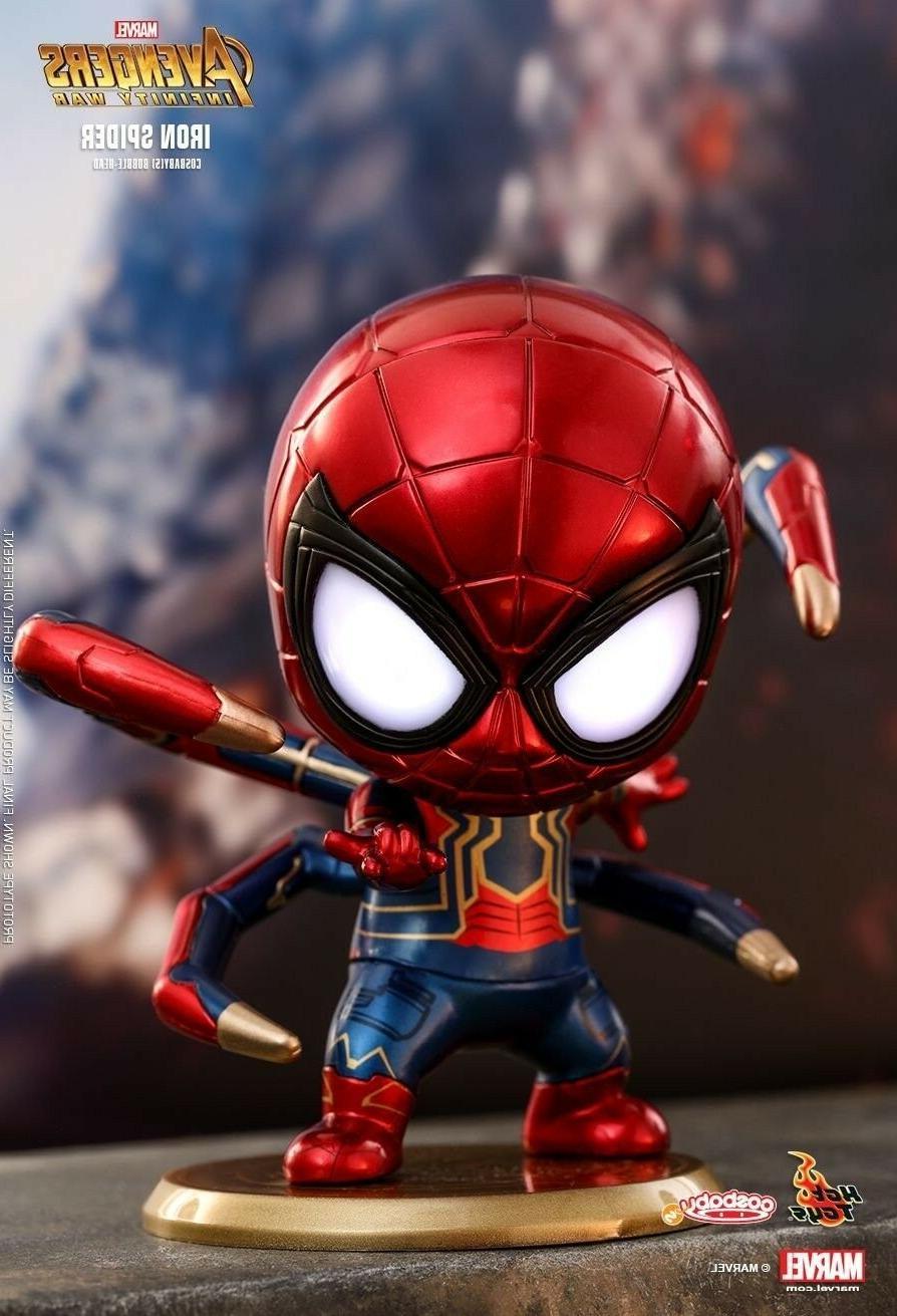 spider man bobblehead action figure magnet sticker