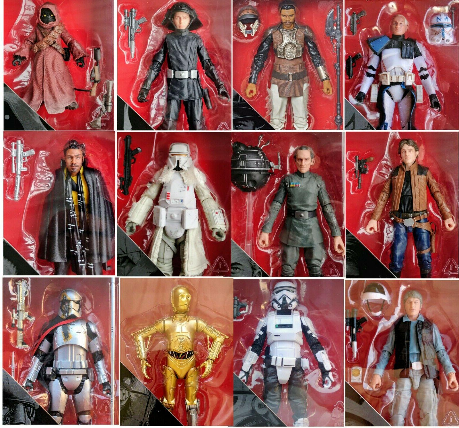 Star Wars ANH TESB ROTJ TFA TLJ The Black Series 6 Inch Figures 2018-2019