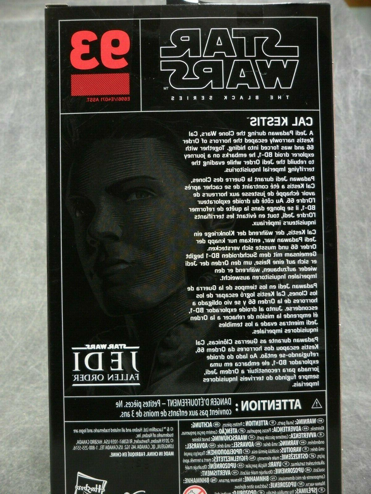 Star Wars Black NEW * Cal Kestis * #93 Action 6-Inch