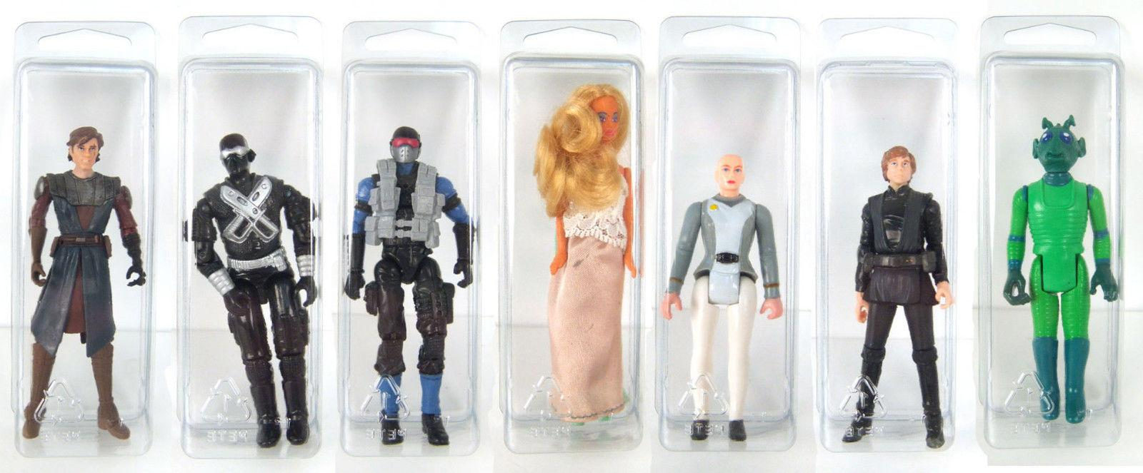 STAR WARS BLISTER CASE LOT OF 10 Action Figure Protective Cl