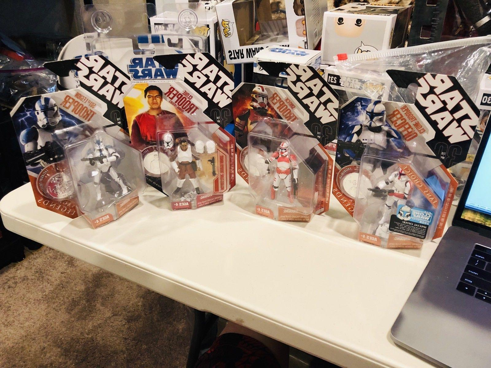 star wars lot of 4 clone troopers