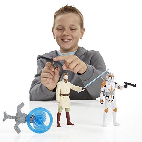 Star the 3.75-Inch Figure 2-Pack Kenobi and Commander