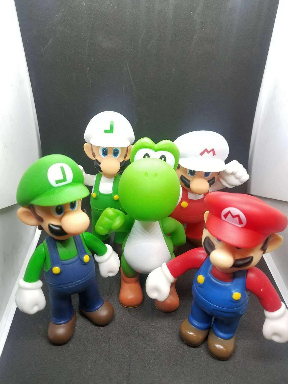 """Super Mario Bros 5"""" BANPRESTO Movable Action Figures 5 Diffe"""