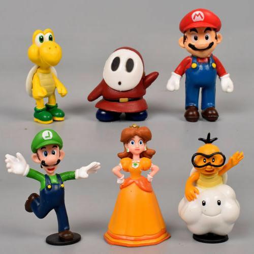 Super Mario Bros Figure Toy Dolls Lot