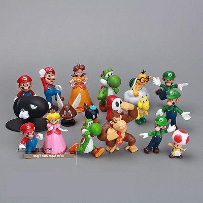 NEWEST Mario Bros Lot 18pcs Action Doll Figurine US STOCK
