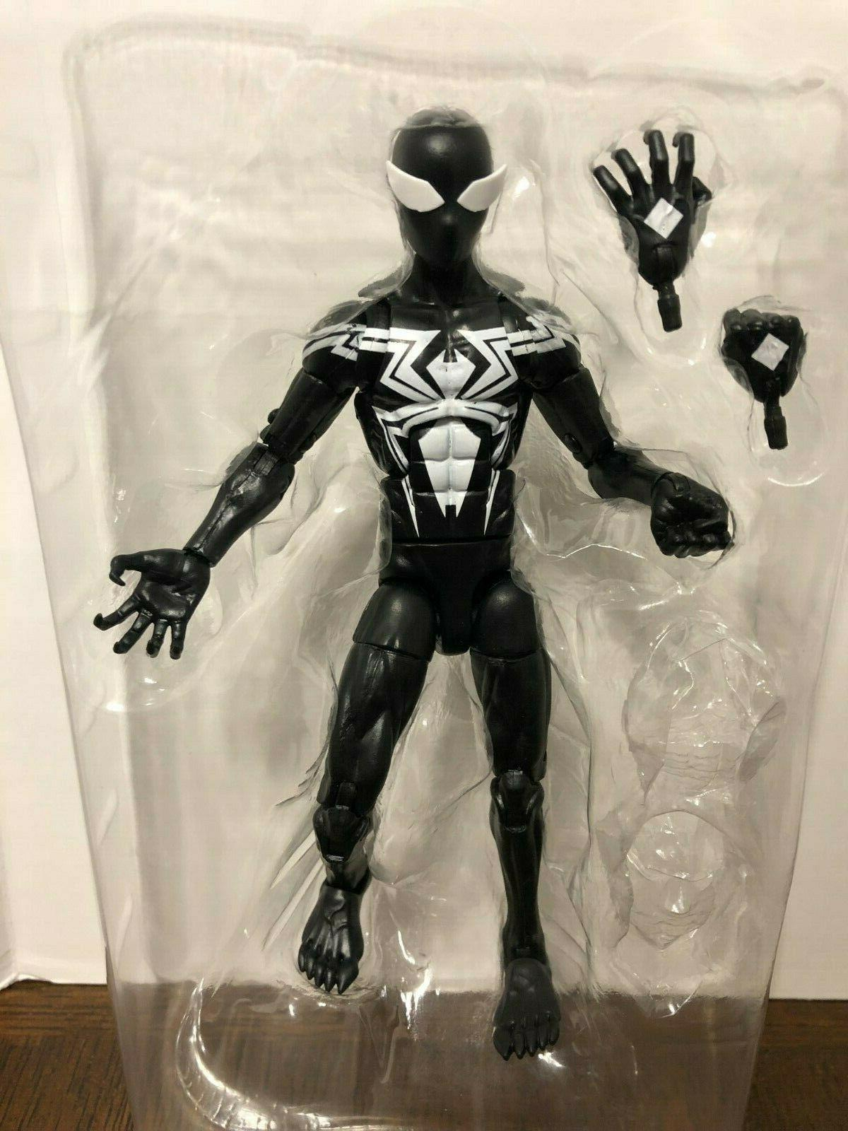 symbiote spider man marvel legends 6 action