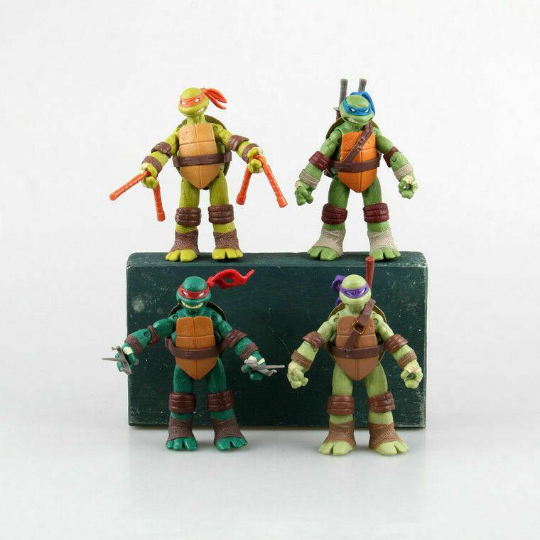 Teenage Ninja Turtles 4x Action Figures Set: Leo Ralph Donnie Mickey NEW