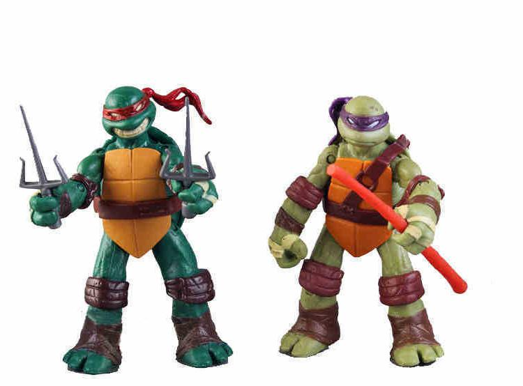 Teenage Ninja Turtles 4x Action Leo Donnie Mickey NEW